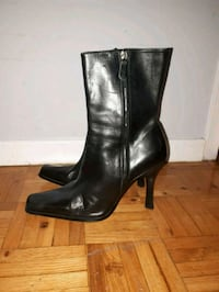 ALDO black leather heeled boots Toronto, M6M