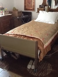 Hospital bed. Electric motor and manual bar. Used but in very good condition.  Call Sue at  [PHONE NUMBER HIDDEN]  Thanks.. 150.00 OBO.  Sunland Park, 88063