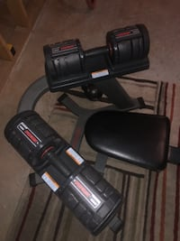 Adjustable weight set and bench