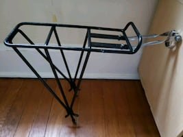 Rear bike rack.