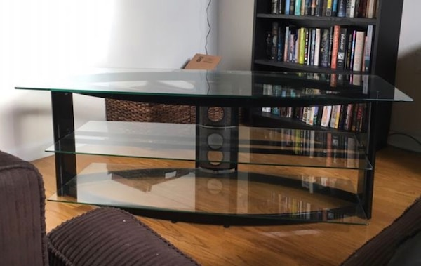 detailed look 30b77 04620 Glass TV Stand