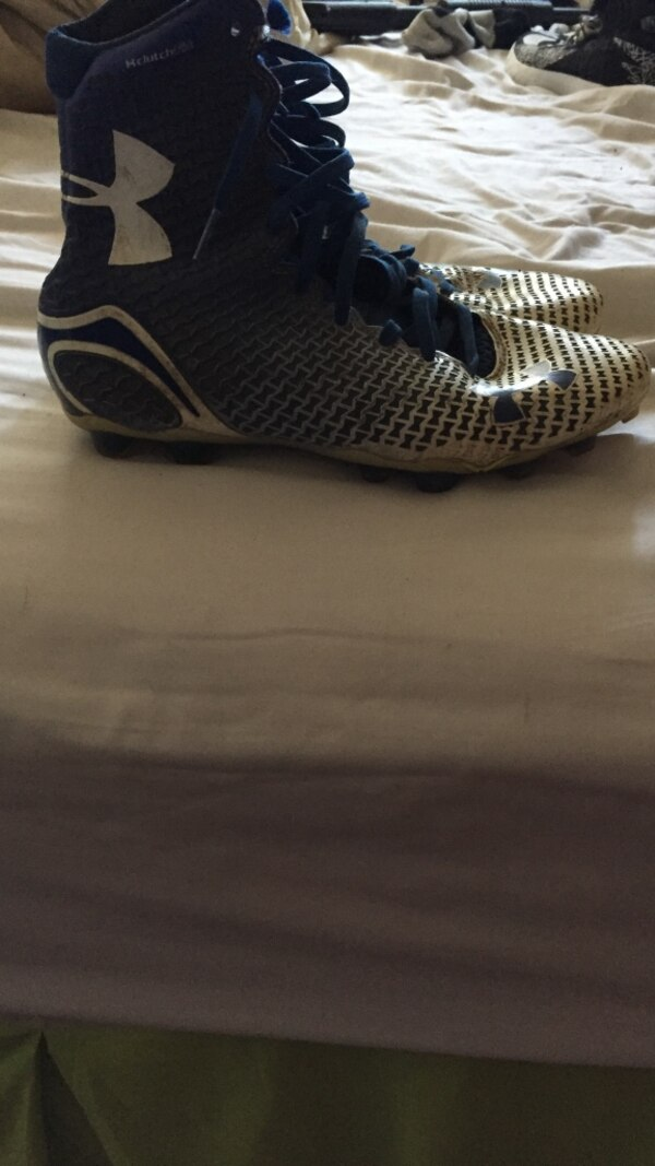 9f7cdbd3e09 Used Blue and white under armor highlights for sale in Midlothian ...