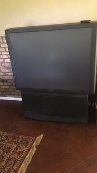 black flat screen TV with remote Ethel, 70730