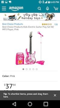 pink and white electric guitar play set screenshot Indianapolis, 46222