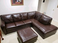 brown leather sectional sofa with ottoman Silver Spring, 20901