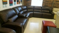 black leather sectional sofa with ottoman Calgary, T3J 0C3