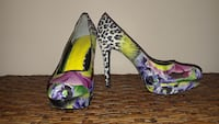 Purple Floral Nine West Pumps, Multi-color Shoes Chester