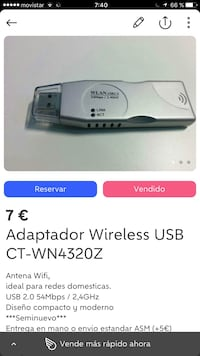 Adaptador Wireless USB CT-WN4320Z