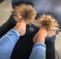 Furry Slippers, Shipping Only