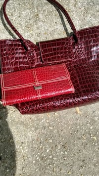 Red textured Liz Claib wallet and red purse Lake Charles, 70605