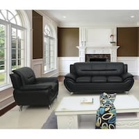 3 PCS BONDED LEATHER SOFA , LOVESEAT AND CHAIR NEW!!! Clifton, 07013