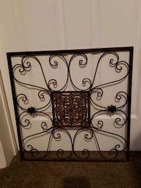 Home decor 22x22 brown metal an wrought iron