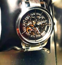 round gold chronograph watch with link bracelet Hanover, 21076