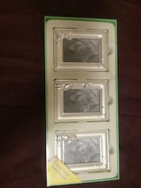 3 silver picture frames