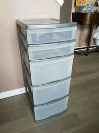 Plastic Storage Unit with Pull Out Drawers