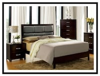 Must Go!!! Queen Espresso Platform Bed 2232 mi