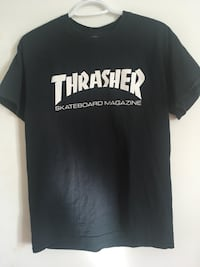 Black thrasher crew-neck T-shirt