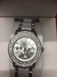 Round silver-colored analog watch with link bracelet Ottawa