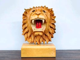 Lion African Wood carving from Ghana