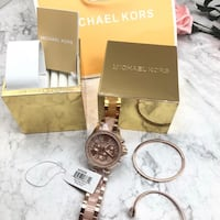 Stylish LADIES ROSE GOLD Watch and Bracelet Set Bowie, 20716
