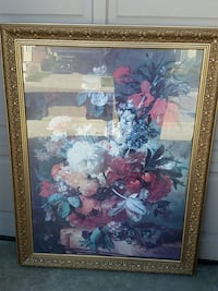 square brown wooden-frame petal flower painting Chula Vista, 91914