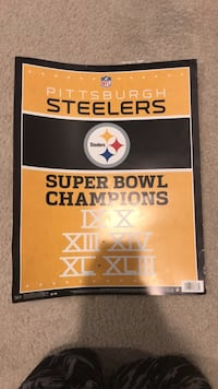 PITSBURG STEELERS AUTHENTIC LTM POSTER  Ashburn, 20148