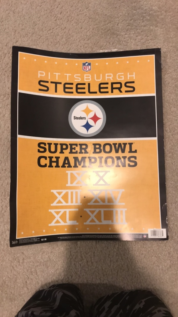 PITSBURG STEELERS AUTHENTIC LTM POSTER