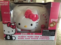 Hello kitty 2-slice wide slot toaster with cool touch exterior box Fremont, 94536