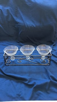 black and clear glass candle holder Pahrump