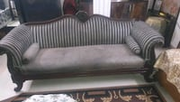 brown and black fabric sofa