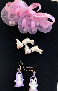 Easter earrings and barrette Waterloo, N2T 0B6