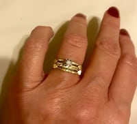 14k Gold Diamond Wedding Ring Set Size 7 Greenville, 29617