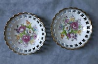 two white-and-pink floral ceramic plates Ottawa, K2H 8V7