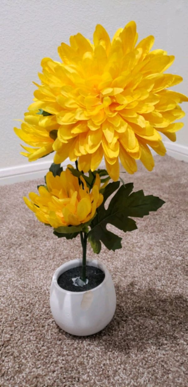 Yellow Flower With Vase $15 fe0dfb98-6e04-41f8-9cf6-45a819c073d0