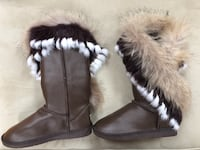 Size 8 Real Fur Winter Boots Newton, 02459