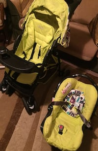 baby's black and yellow stroller London, N6E