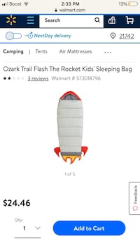 Ozark trail kids sleeping bag Hagerstown, 21740