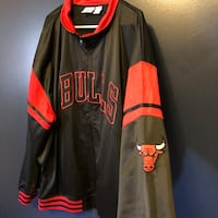 black and red Chicago Bulls letterman jacket Summit, 60501