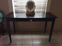 black wooden single-drawer end table Fort Worth, 76106