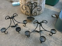 black metal scrolled candle holder Sacramento, 95838