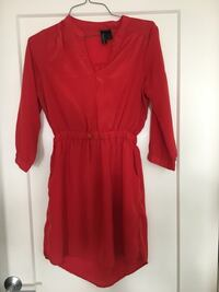 red v neck long sleeve dress Silver Spring, 20910