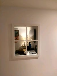 4 panel mirror white wood Montreal, H4G 2Y7