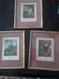 Three framed and matted English prints Middleburg, 20117