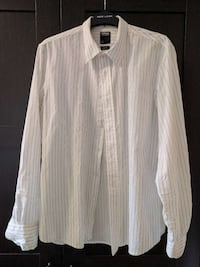 weißes langärmeliges Button-up-Shirt Trier, 54296
