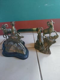 antique bronze mountain goats sculptures. Both for the price quoted! MIAMI