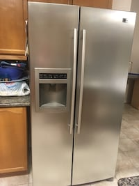 silver side-by-side refrigerator Whitby, L1P 0A4