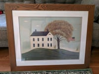 brown wooden framed painting of house Cheverly, 20785