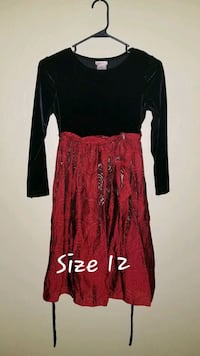red and black long-sleeved dress Mansfield, 44905