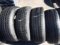 Set P235/55R18 GOODYEAR EAGLE RS.A semi new 95% life $260 includes professional installation and tax Whittier, 90605