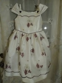 white and red floral sleeveless dress West Point